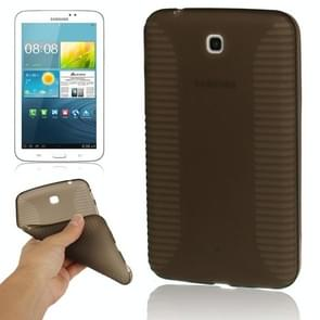 Pure Color Translucent TPU Case for Samsung Galaxy Tab 3 (7.0) / P3200(Coffee)