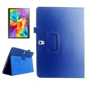 Lichee Texture Horizontal Flip Leather Case with Holder for Samsung Galaxy Tab S 10.5 / T800(Blue)