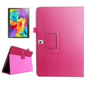 Lichee Texture Horizontal Flip Leather Case with Holder for Samsung Galaxy Tab S 10.5 / T800(Magenta)