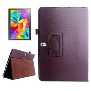 Lichee Texture Horizontal Flip Leather Case with Holder for Samsung Galaxy Tab S 10.5 / T800(Brown)