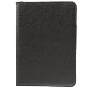 360 Degree Rotatable Litchi Texture Leather Case with 2-angle Viewing Holder for Samsung Galaxy Tab 4 10.1 / SM-T530 / T531(Black)