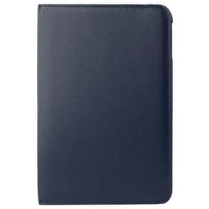 360 Degree Rotatable Litchi Texture Leather Case with 2-angle Viewing Holder for Samsung Galaxy Tab 4 10.1 / SM-T530 / T531(Dark Blue)