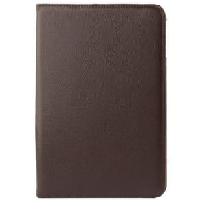 360 Degree Rotatable Litchi Texture Leather Case with 2-angle Viewing Holder for Samsung Galaxy Tab 4 10.1 / SM-T530 / T531(Brown)