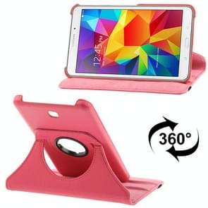 360 Degree Rotatable Litchi Texture Leather Case with 2-angle Viewing Holder for Samsung Galaxy Tab 4 7.0 / SM-T230 / T231 / T235(Magenta)