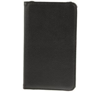 360 Degree Rotatable Litchi Texture Leather Case with 2-angle Viewing Holder for Samsung Galaxy Tab 4 7.0 / SM-T230 / T231 / T235(Black)