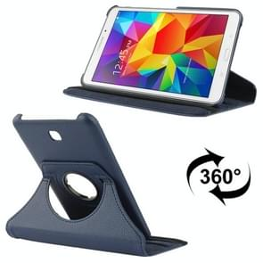 360 Degree Rotatable Litchi Texture Leather Case with 2-angle Viewing Holder for Samsung Galaxy Tab 4 7.0 / SM-T230 / T231 / T235(Dark Blue)
