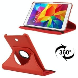 360 Degree Rotatable Litchi Texture Leather Case with 2-angle Viewing Holder for Samsung Galaxy Tab 4 7.0 / SM-T230 / T231 / T235(Red)