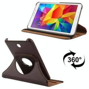 360 Degree Rotatable Litchi Texture Leather Case with 2-angle Viewing Holder for Samsung Galaxy Tab 4 7.0 / SM-T230 / T231 / T235(Brown)