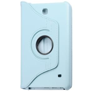 360 Degree Rotatable Litchi Texture Leather Case with 2-angle Viewing Holder for Samsung Galaxy Tab 4 8.0 / SM-T330(Blue)