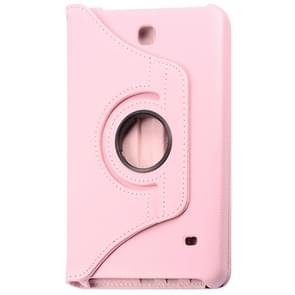 360 Degree Rotatable Litchi Texture Leather Case with 2-angle Viewing Holder for Samsung Galaxy Tab 4 8.0 / SM-T330(Pink)