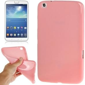 Pure Color Smooth Surface TPU Case for Samsung Galaxy Tab 3 (8.0) / T3110 / T3100, Pink(Pink)