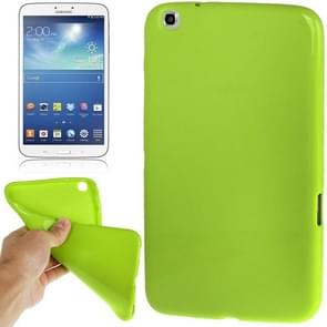 Pure Color Smooth Surface TPU Case for Samsung Galaxy Tab 3 (8.0) / T3110 / T3100, Green(Green)