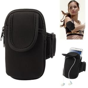 Thicken Nylon Fabric Double Layers Sports Armband Case for Samsung Galaxy Note II / N7100 / i9220(Black)