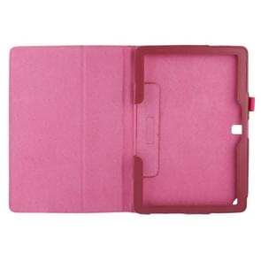 Litchi Texture Leather Case with Holder for Samsung Galaxy Note 10.1 / P600 (2014 Edition), Magenta(Magenta)