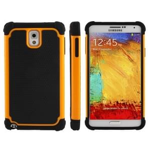 Honeycomb Texture Plastic + Silicone Combination Case for Samsung Galaxy Note III / N9000 (Orange)