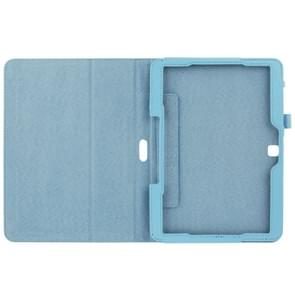 Litchi Texture Flip Leather Case with Holder for Samsung Galaxy Tab 4 10.1 / T530(Blue)