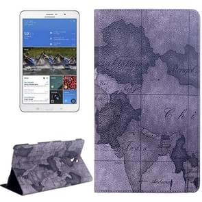 World Map Pattern Flip Leather Case with Holder for Samsung Galaxy Tab S 8.4 / T700, Random Delivery (Grey)