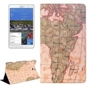 World Map Pattern Flip Leather Case with Holder for Samsung Galaxy Tab S 8.4 / T700, Random Delivery (Light Yellow)