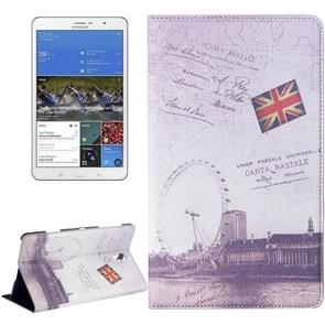 London Ferris Wheel Pattern Flip Leather Case with Holder for Samsung Galaxy Tab S 8.4 / T700