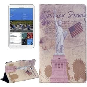 Statue of Liberty Pattern Flip Leather Case with Holder for Samsung Galaxy Tab S 8.4 / T700