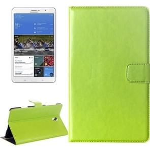 Crazy Horse Texture Flip Leather Case with Holder for Samsung Galaxy Tab S 8.4 / T700(Green)