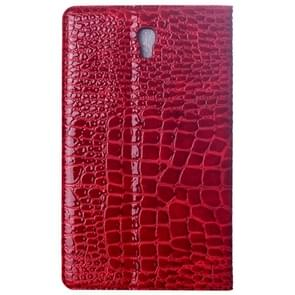 Crocodile Texture Flip Leather Case with Holder for Samsung Galaxy Tab S 8.4 / T700(Red)