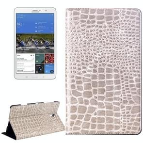 Crocodile Texture Flip Leather Case with Holder for Samsung Galaxy Tab S 8.4 / T700 (Light Grey)