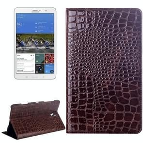 Crocodile Texture Flip Leather Case with Holder for Samsung Galaxy Tab S 8.4 / T700(Brown)