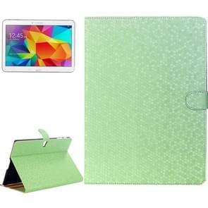 Honeycomb Texture Flip Leather Case with Holder for Samsung Galaxy Tab S 10.5 / T800(Green)
