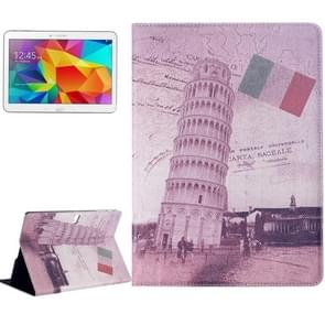 Leaning Tower of Pisa Pattern Flip Leather Case with Holder for Samsung Galaxy Tab S 10.5 / T800