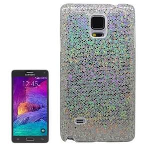 Glitter Powder Skinning Plastic Case for Samsung Galaxy Note 4(White)
