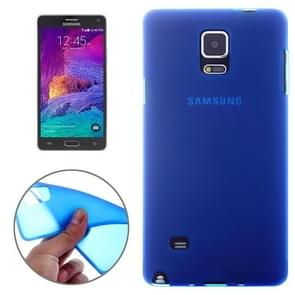 Double Frosted TPU Case for Samsung Galaxy Note 4(Dark Blue)