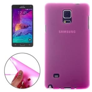 Double Frosted TPU Case for Samsung Galaxy Note 4(Magenta)