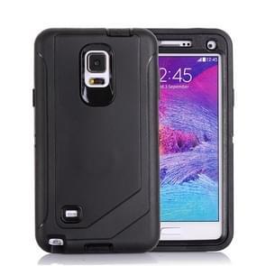Hybrid TPU Bumper PC Combination Case for Samsung Galaxy Note 4(Black)