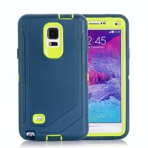 Hybrid TPU Bumper PC Combination Case for Samsung Galaxy Note 4(Dark Blue+Yellow)