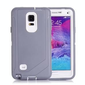 Hybrid TPU Bumper PC Combination Case for Samsung Galaxy Note 4(Grey+White)