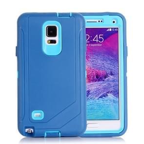 Hybrid TPU Bumper PC Combination Case for Samsung Galaxy Note 4(Light Blue)