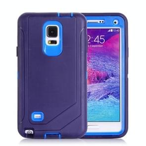 Hybrid TPU Bumper PC Combination Case for Samsung Galaxy Note 4(Blue)