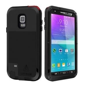 LOVE MEI Metal Ultra-thin Waterproof Dustproof Shockproof Powerful Protective Case for Samsung Galaxy Note 4(Black)