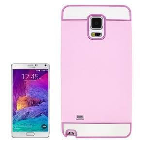 2 in 1 Hybrid TPU + PC Bumper Case for Samsung Galaxy Note 4(Pink)