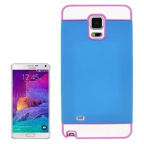 2 in 1 Hybrid TPU + PC Bumper Case for Samsung Galaxy Note 4(Pink+Blue)