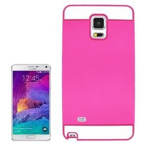 2 in 1 Hybrid TPU + PC Bumper Case for Samsung Galaxy Note 4(Magenta)