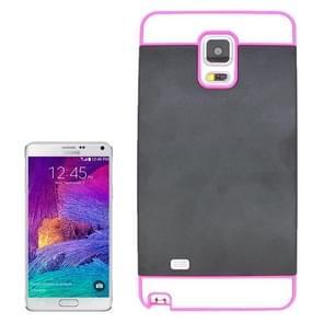 2 in 1 Hybrid TPU + PC Bumper Case for Samsung Galaxy Note 4(Pink+Black)