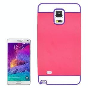2 in 1 Hybrid TPU + PC Bumper Case for Samsung Galaxy Note 4(Purple+Red)