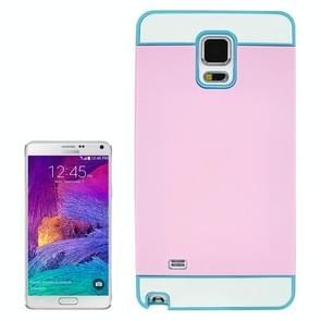 2 in 1 Hybrid TPU + PC Bumper Case for Samsung Galaxy Note 4(Blue+Pink)