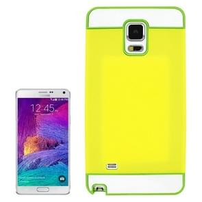 2 in 1 Hybrid TPU + PC Bumper Case for Samsung Galaxy Note 4(Green+Yellow)