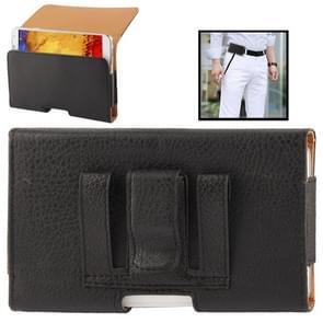 Litchi Texture Wallet Style Leather Case with Belt Clip for Samsung Galaxy Note III / N9000 / N7100(Black)