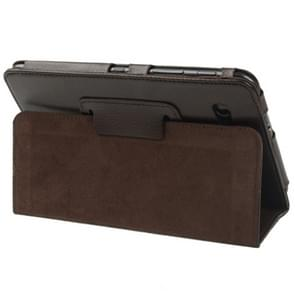Leather Case with Holder for Samsung Galaxy Tab 2 (7.0) / P3100(Brown)