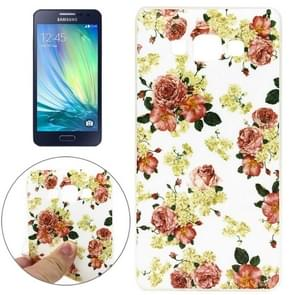 Chinese Rose Pattern TPU Case for Samsung Galaxy A3