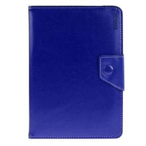 Universal Crazy Horse Texture Horizontal Flip Leather Case with Holder for 9 inch Tablet PC(Dark Blue)